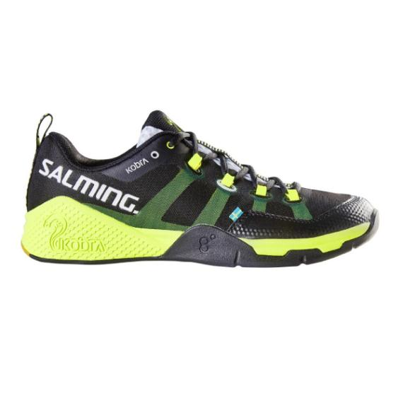 Squash Shoes - Salming Kobra Black Yellow Mens Squash Shoes