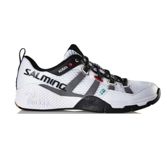 Squash Shoes - Salming Kobra White Mens Squash Shoes