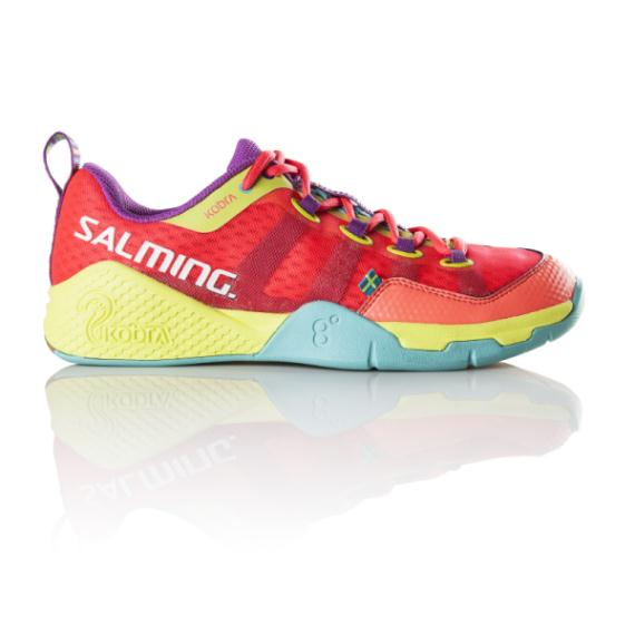 Squash Shoes - Salming Kobra Diva Pink Turqoise Womens Squash Shoes