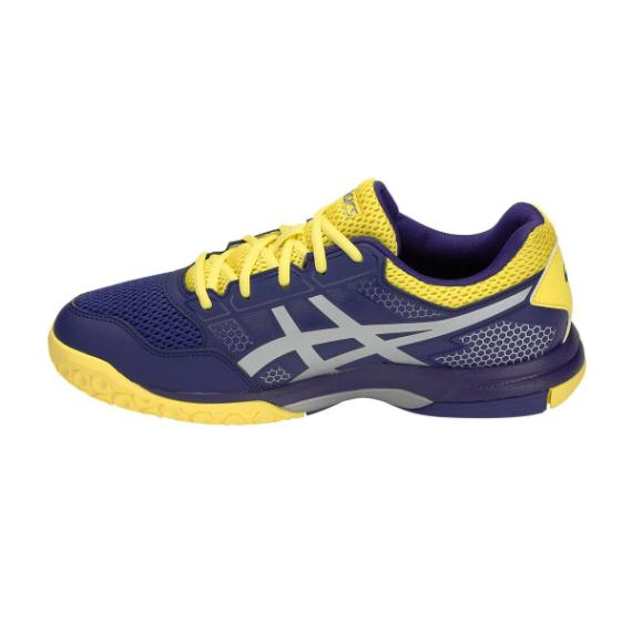 Squash Shoes - Asics Gel Rocket 8 Mens Squash Shoes Indigo Silver
