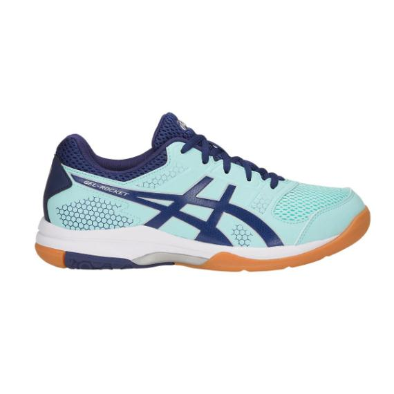 Squash Shoes - Asics Gel Rocket 8 Womens Squash Shoes Icy Blue