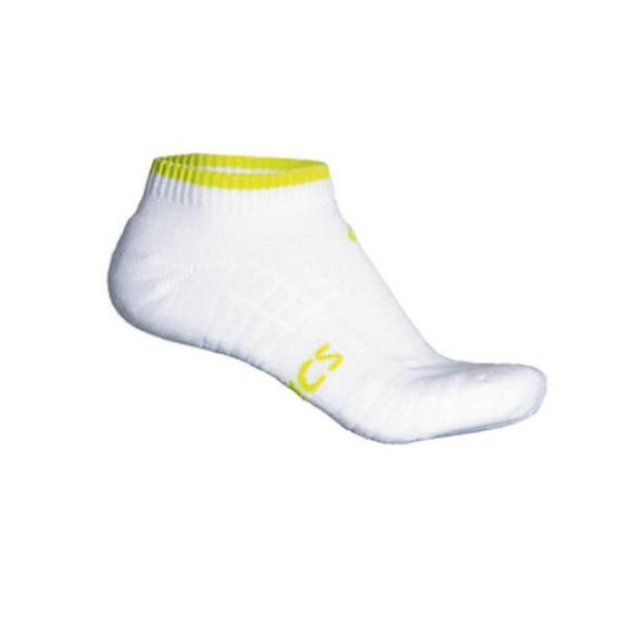 Clothing - Asics Pace Low Sock White Lime