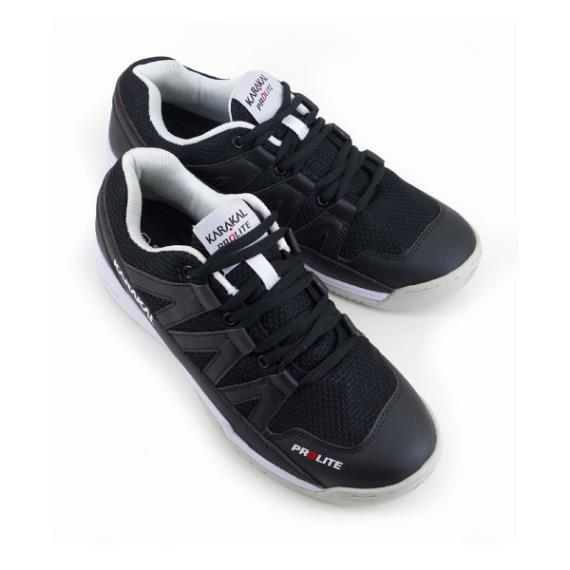Squash Shoes - Karakal Prolite Classic Black Court Shoe