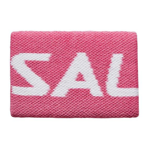 Squash Accessories - Salming Wristband Mid Single Pink/White